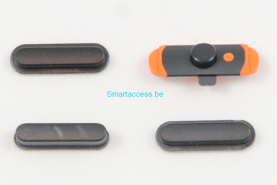 Set de 4 boutons, mute, power et volume iPad mini 1 et iPad mini 2 noir